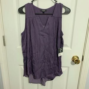 Purple blouse tank